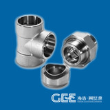 """GEE ASME B16.9 Forged 1/2""""*1"""" *SCH40 A105 Carbon Steel Tee"""