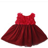 Fahion Infant Girl Mesh Red Flower Party Dress (KD-001)