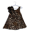 Leopard Printed Girl Flower Dress (KD-001)