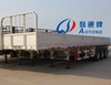 Tri-Axle Flatbed Side Wall Open Cargo Truck Semi Trailer (LAT9280)