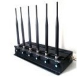 Adjustable 3G/4G High Power Cell phone Jammer with 6 Powerful Antenna ( 4G LTE + 4G Wimax)