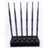 High Power 6 Antenna GPS,WiFi,VHF,UHF and Cell Phone Jammer