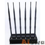 High Power 6 Antenna Cell Phone,GPS,WiFi,VHF,UHF Jammer