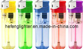 Refillable Electronic Piezo Lighter Transparent in 5 Colors