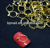 Hollow design 3D nail metal decoration/Finger Nail Jewelry/Jewelry 3D Nail Design.