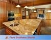 Polish Gold Granite Kitchen Counter Top