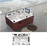 Luxury Resort Villa Hotel Family Swim Massage Bath Tub | Outdoor Whirlpool Hydro Massage Pool with 141 Massage Jets