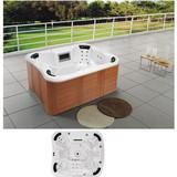 6 Person Massage Whirlpool Bathtub | Garden Hotel Backyard Air Jets Massage Outdoor SPA