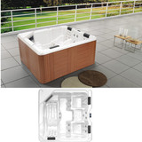 Freestanding Combo Massage Bathtub | SPA Hydro Massage Pool