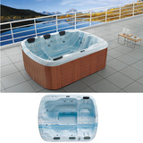 Romantic blue cloud combo massage bathtub | whirlpool hot tub with cheap price
