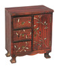 Solid Wood 3drw 2 Dr Storage Cabinet (RL01347-0852)