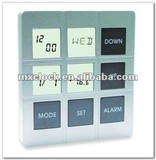 YD8076 multifunction time squared alarm clock