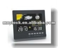 YD8215E-1 black digitall colorful weather station clock