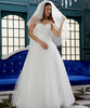 Ball Gown Floor-Length Organza Bridal Wedding Gown (Ogt2109)