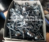 Galvanized roofing nail with umbrella head