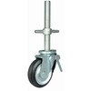 "6"" steel core rubber swivel with brake caster"