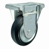 "5"" steel core rubber rigid brake caster"