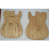 Guitar Body in roasted ash lightweight