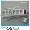 CE certificate French style extension socket with switch YL-1116E