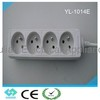 CE certificate French style extension socket with switch YL-1014E