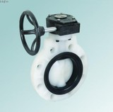 Plastic PVDF Wafer type butterfly valve