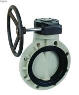Plastic CPVC worm gear butterfly valve