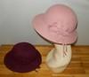 Ladies 100% wool  felt hat with beautiful flower