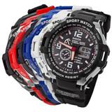 Fashion Multifunction LED lights rubber Digital Sports smart watches 3ATM SANDA Energy Saving Tclimbing Sport Watch