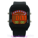 Fashion Multifunction LCD lights rubber Digital Sports smart watches Made in China