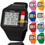 2014 New Style Electronic Sports Watch LED Waterproof Watches Shhors HT061