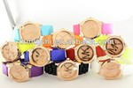 2014 Whole Sale Hot Selling MK Logo Rose Gold Crown Silicone Colorful Candy Color Wristwatch