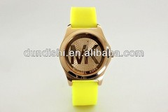 2014 Hot Sale MK Silicone Strap Candy Color Wristwatch Japan Movement