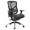Heated ergonomic executive mid back mesh swivel office chairs with adjustable armrest and lumbar support JNS-801
