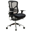 Heated ergonomic executive mid back mesh swivel office chairs with adjustable armrest and lumbar support JNS-506