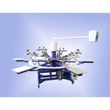 6-color semi-automatic screen printing machine&rotary printing machine
