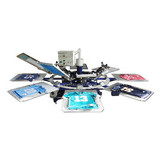 8-color semi-automatic screen printing machine&rotary printing machine