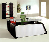 New glass office design furniture office counter table PT-D085