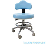Doctor dental stool with contoured seat and shoes rack