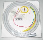 Dental fiber optic handpiece tubing