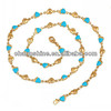 latest design gold necklace 24K gold necklace brass chain necklace factory direct supply