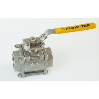 3pc Full Bore 1000psi Stainless Steel Ball Valve  with Mounting Pad