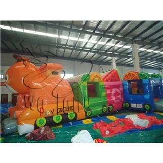 new lovely fruit train inflatable bouncer for sale