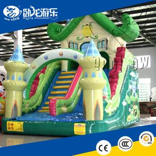hot promotional Green Homeworld inflatable slide