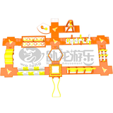 New Design Commercial inflatable water park slide