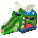 Fun park inflatable bouncer with water slide