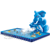 Wholesale cheap commercial inflatable water park with pool