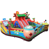Commercial cartoon adult inflatable slide