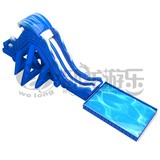Fun park equipment floating inflatable water slide