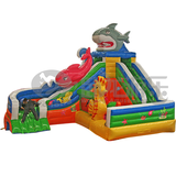 Most popular plastic bounce round inflatable water slide