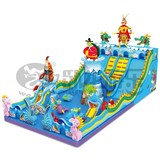 inflatable bouncer with water slide